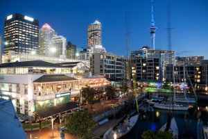 Viaduct Harbour at Night